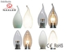 Bombilla led e12/e14/e27/b22, flame tip, frosted