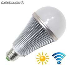 Bombilla led e27 12w chip samsung sensor movimiento y luminosidad blanco neutro