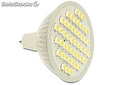 Bombilla Led Mr16 2,5w 48 leds Blanco Calido 3000k 10/18V AC / 10/30V DC Delock