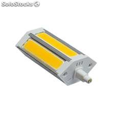 Bombilla led r7s 10w cob 118mm regulable blanco cálido regulable