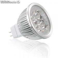 Bombillas led, mr16, 4w, blanco cálido