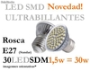Bombillas LED Ultra-Billantes SDM +37% de luminosidad (Consumo 1,5w)
