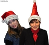 Bonnets de noel en velours brillant - 2 assortis