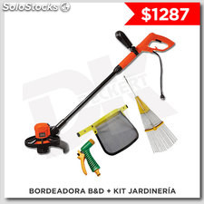 Bordeadora black & deckert + kit de Jardineria