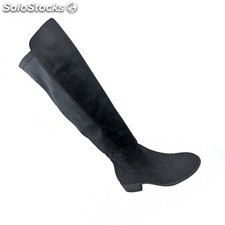 botas polipiel antelina color unico. cajas 12 pares