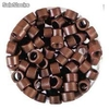 Bote 100 anillas color burdeos