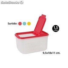Bote multiusos rectangular surtido colores, wat, 1,5l.
