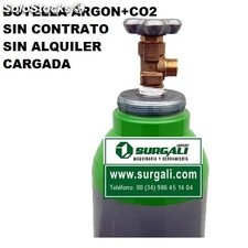 Botella Gas Argón + co2