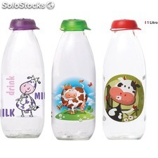 Botella leche decorado 1 litro - surtidos - inde - 8433774661566 - BE03030166156