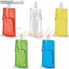 Botella plegable con mosqueton metalico varios colores ref 94612 stricker