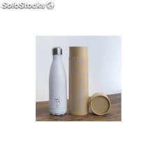 Botella termo acero inoxidable blanco mate 500 ml
