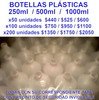 botellas plasticas