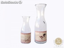 Botellas Vintage para Decoración Bodas · Pack 2 ds
