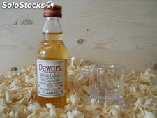 Botellin miniatura Whisky Dewar ´s Whitel Label 44100023