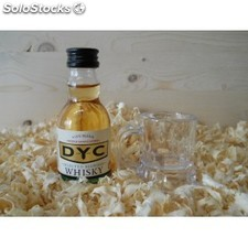Botellin miniaturas Whisky DYC