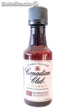 Botellita Miniatura Whisky Canadian Club