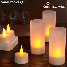 Bougies LED rechargeables EmotiCandle (pack de 6)