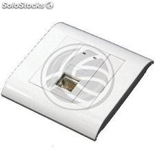 Box 80x80 wall or duct with 1 RJ45 ftp Cat.5e 568B (RL73-0002)