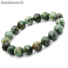 Bracelet Turquoise Africaine pierre semi-précieuse perles 10 mm (ST10-TURA )