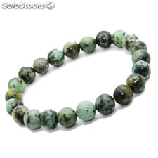 Bracelet Turquoise Africaine pierre semi-précieuse perles 8 mm (ST08-TURA)
