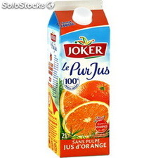 Brick 2L pur jus orange joker
