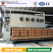 Brictec automatic tunnel kiln for firing hollow clay bricks
