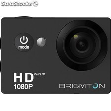 Brigmton - BSC-8HD 12MP Full HD Wifi 64g cámara para deporte de acción