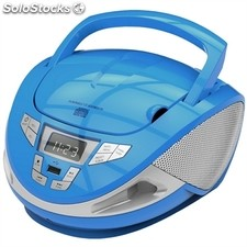 Brigmton Radio CD w-440 usb-Radio Azul