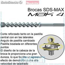 Broca para hormigon sds-max mak4 32*x370 mm - MAKITA - Ref: P-78031