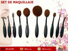 Brochas Maquillaje Set 10 Piezas We Beauty
