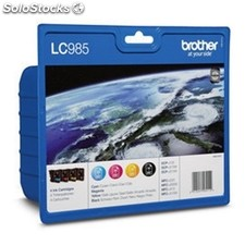 Brother cartucho negro´tricolor LC985BK´c´m´y 300 pag. Negro´260 pag. Pack 4