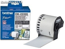 Brother cinta de papel continuo 62mmx30,48 m negro/blanco dk22205