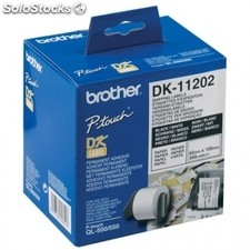Brother etiquetas de envio 62x100mm negro/blanco dk11202