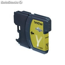 Brother - LC-1100Y Yellow Ink Cartridge Blister Pack Amarillo cartucho de tinta