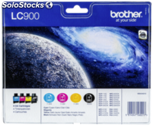 Brother lc-900 Value Pack bk/c/m/y