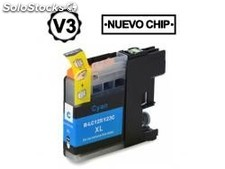 Brother lc121 xl / lc123 xl V3 cyan compatible LC121C/LC123C