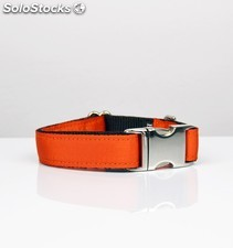Brott collar solid orange l