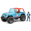 Bruder Todoterreno Land Rover+conductor Jeep Cross-country 1:16 02541