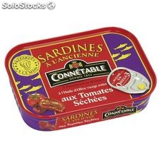 Bte 1/6 sardine entiere huile olive/tomate sechees connetable