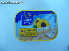 Bte 1/7 filet sardine tournesol grand jury