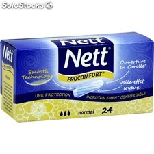 Bte 24 tampons pro comfort normaux nett