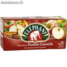 Bte 25ST infusion pomme/cannelle elephant