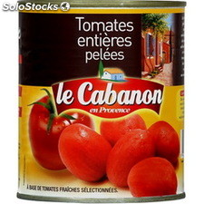 Bte 4/4 tomate entiere pelee of le cabanon