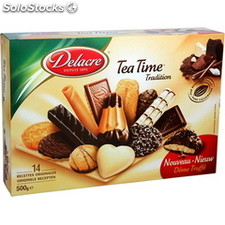 Bte carton 500G tea time delacre