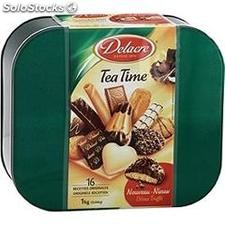 Bte metal 1KG assortiment tea time delacre