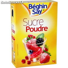 Bte verseuse 1KG sucre poudre beghin say