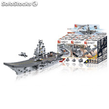 Building Blocks Aircraft Carrier Series 9-in-1 Aircraft Carrier