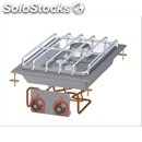 Built-in gas boiling top - mod. pcd-64g - n. 2 burners - power 5,5 + 7,5 kw /