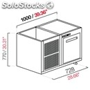 Built-in refrigerated bar cell-semifinished from panel-mod. cir770/bt100-bt