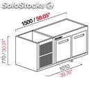 Built-in refrigerated bar cell-semifinished from panel-mod. cir770/bt150-bt